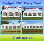 20'x20', 26'x20', 32'x20', 40'x20' Budget PVC Party Wedding Tent Shelter Canopy