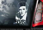 Elvis Presley - Car Window Sticker - The King Rock & Roll Music Sign Decal - V05