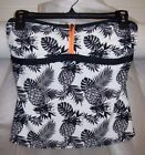 WOMEN'S ARIZONA LONG SWIM TOP WHITE/BLACK -WITH PINEAPPLES NEW WITH TAGS