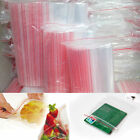 100pcs 3Sizes Ziplock Zip Zipped Lock Reclosable Plastic Poly Clear Seal Bags bs