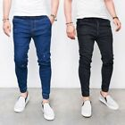 how to style denim joggers - Distressed Jogger Korean Style Mens Jeans Slim Fit Denim Pants Skinny Stretch