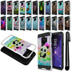 "For Samsung Galaxy S9 5.8"" Shockproof Brushed Hybrid Phone Case Cover + Pen"