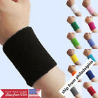 2 Ps Sports Basketball Unisex Cotton Sweat Band Sweatband Wristband Wrist Band
