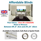 "Made to Measure Roller Blind Up to 2ft_24""_60cm Plain Fabrics Cafe Rod or Eyelet"