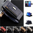 Magnetic Closure PU Leather Case & Zipper Wallet Stand Cover for Samsung S9 Plus