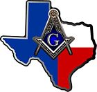 ProSticker 125V (One) Masonic Freemason Texas Shriner Compass Square Decal