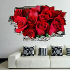 Roses Flowers Wall Art Stickers Mural Decal Home Office Beauty Salon Decor Ep14