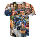 SPECIAL OFFER Paul Walker T-shirt Tees 3D Print Mens Fashion S-2XL