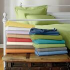Extra Deep Pocket 6 PC Sheet Set 1200 TC Egyptian Cotton Twin-Size Solid Colors