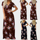 Womens Maxi Boho Floral Summer Beach Long Dress Evening Cocktail Party Dress US