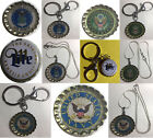 Miller lite Beer bottle cap US Navy Air Force Army Keychain Necklace Handmade