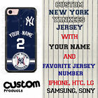 Custom New York Yankees Blue Jersey Phone Case with Your Name & # for iPhone