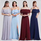 Ever-Pretty Off Shoulder Bridesmaid Dress Long Chiffon Maxi Evening Dress 07171