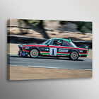 1976 BMW CSL Racecar Car Automotive Photo Wall Art Canvas Print