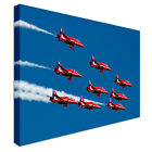 Red Arrows In The Sky Canvas Print Crafted In London - Quality Assured