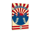 Atlanta Braves Vintage Baseball Canvas on Ebay
