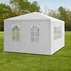 3X3M 4M 6M 9M Gazebo Garden Marquee Canopy Waterproof PE Outdoor Tent White NEW