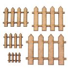 Picket Fence Craft Shape, Various Sizes, 2mm Mdf Wood. Home, House, Modelling