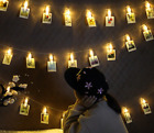 10-40 Photo Window Hanging Peg Clips LED String Lights Home Party Fairy Decor