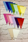 WOODEN BUNTING TRIANGLES PRE PAINTED TO PROFESSIONAL SMOOTH FINISH APROX 10X15CM
