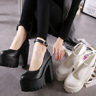 cute cheap high heels - Cute Womens Casual Round Toe Ankle Buckle Strap High Heel Platform Chunky Shoes