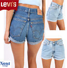 Levis Shorts High Waisted Cut Off Turned Up Hotpant Vintage Grade A 6 8 10 12 14