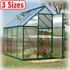 Greenhouse Kit 3 Sizes Portable Walk Polycarbonate Panel Plant Outdoor Garden