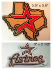 Houston Astros Iron On Patch Choice of Style Free Shipping in Envelope Mail