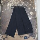 New Lanvin Graphite Grey Check Trousers With Satin Stripe Size 52 BNWT RRP £435