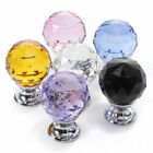 Crystal Glass Door Knobs Drawer Cabinet Furniture Kitchen Pull Handle 30mm New