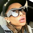 OVERSIZED VINTAGE Style Bling Rhinestones Crystals Thick Frame SUNGLASSES