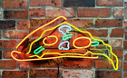 """New Delicious Dripping Pizza Slice Beer Pub Acrylic Neon Light Sign 17""""x14"""""""