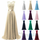 Chiffon Long Ball Gown Prom Evening Party dresses Bridesmaid Dress Size 4-26