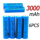 UltraFire 3000mAh 18650 Battery Li-ion 3.7V Batteries +US Charger For Torch NEW