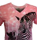 Women's V-Neck -Zebras -Top-by White Stag, sublimation 100% Poly -NEW .