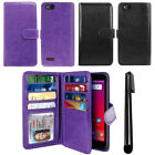 "For ZTE Tempo X N9137/ Blade Vantage Z839 5"" Wallet Cover Case Wrist Strap + Pen"
