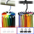 20 Rotating Tie Rack Hanger Organizer Twirling Scarf Belt Tie Hook Holder Ties