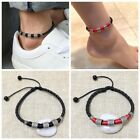 Mens Womens Leather Rope Anklet Ankle Bracelet Barefoot Sandal Beach Foot Chain image