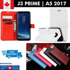 Samsung Galaxy J3 Prime, A5 2017 Leather Wallet Case Cover ID Card Slots Stand