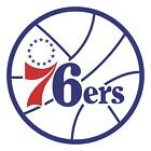 Philadelphia 76ers Main logo Vinyl Decal / Sticker 5 Sizes!!
