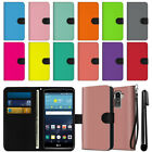 For LG G Stylo LS770/ G4 Note  Solid Color Wallet Pouch Case Cover + Pen