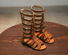Cool Kids Girls Gladiator Shoes Summer Bowknot Strap Flat Sandals Zip Up Boots