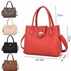 New Women's Large Designer Style PU Leather Tote Shopper Hand Bag