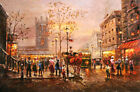 Best gift Paris Street Cityscapes Oil painting Art wall Decor Printed on canvas