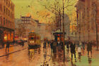 Best gift Paris Street Cityscape Oil painting Art wall Decor Printed on canvas 5