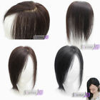 US Stock! New Style 9*10cm base top piece 100% Human Hair Topper Hairpiece Top