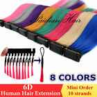 New 20inch 5/50gram 10/100 Strands10A Remy 6D Human Hair Extensions