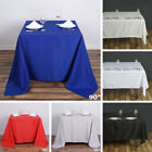 """6 pcs 90"""" SQUARE POLYESTER TABLECLOTH Wedding Party Catering Dinner Linens SALE"""