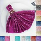 "10 SEQUINED 20x20"" Wedding NAPKINS Party Dinner Table Linen Catering Decorations"