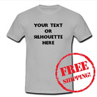 Custom Personalized T-shirt Your Text or Silhouette Printed Tee (Adult & Kids)